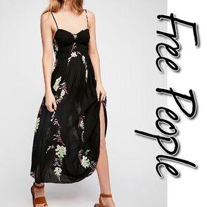 Free People Beau Smocked Printed Slip Dress NWT M